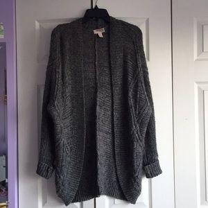 Grey oversized knit cardigan
